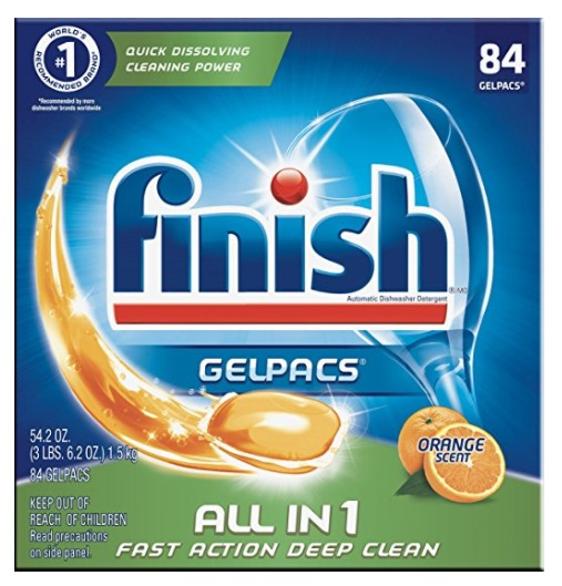 Amazon.com: Finish All in 1 Gelpacs Dishwasher Detergent Tabs for just $8.97 shipped!
