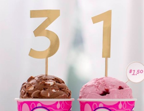 Baskin Robbins: Get ice cream scoops for just $1.50 today!