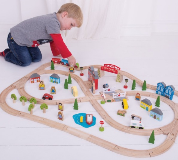 Amazon.com: Wooden 101-Piece Town and Country Train Set for just $47.05 shipped!