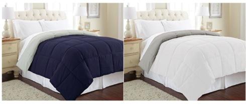 Amazon.com: All Season Down Alternative Queen Reversible Comforter just $22.99!