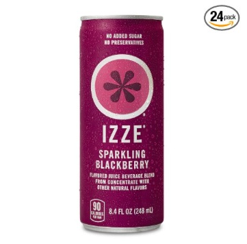 Amazon.com: IZZE Fortified Sparkling Blackberry Juice, 24 count just $0.40 each, shipped!