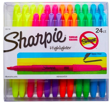 Amazon.com: Sharpie Accent Pocket Highlighters, Chisel Tip, Pack of 24 just $7.73 shipped!