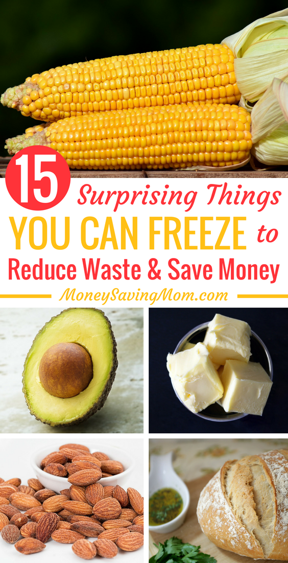 Check out these 15 surprising things you can freeze that will help reduce waste and save money on your grocery budget!