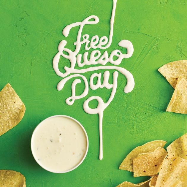 oe's Southwest Grill: Free Queso on September 21, 2017