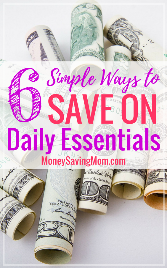 Save on the daily essentials with these 6 simple tips -- no coupons required!!