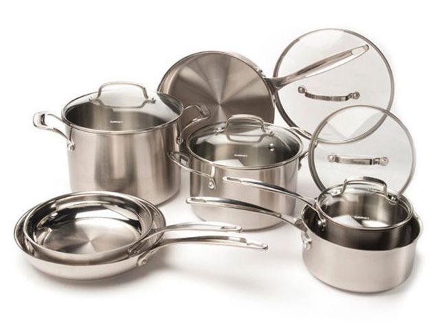 Amazon.com: Cuisinart 12-Piece Stainless Steel Cookware Set only $129.99 shipped!