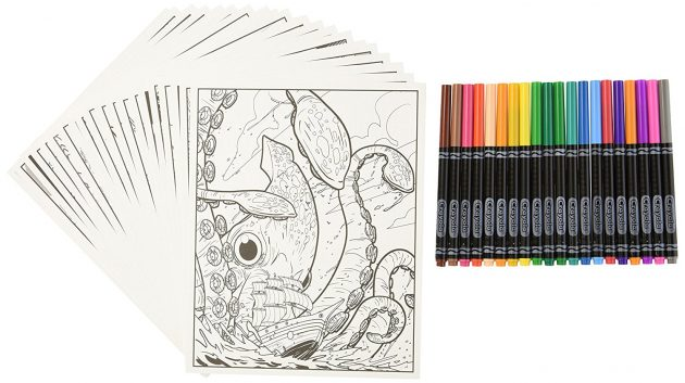 Amazon.com: Crayola Art Naturescapes Coloring Book with 20 Fine Line Markers only $4.83!