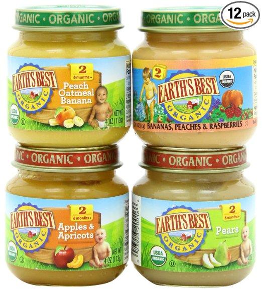 AmazoAmazon.com: Earth's Best Organic Baby Food, 12 count just $7.27 shipped!