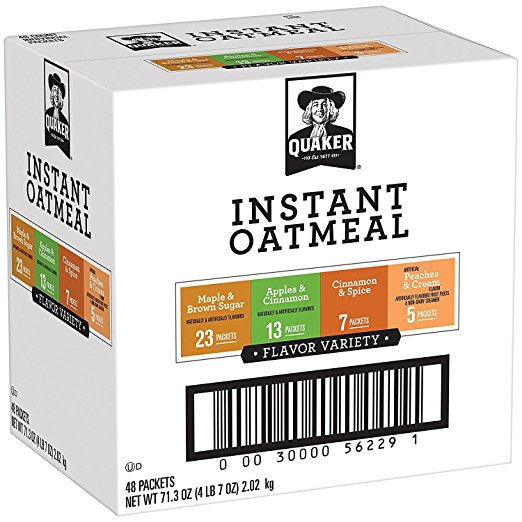 Amazon.com: Quaker Instant Oatmeal Variety Pack (48 count) only $8.08 shipped!