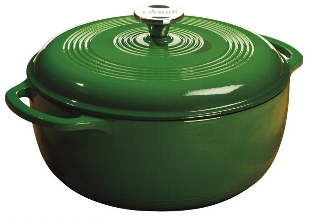Amazon.com: Lodge Enameled Cast Iron 6-Quart Dutch Oven only $38.87 shipped!