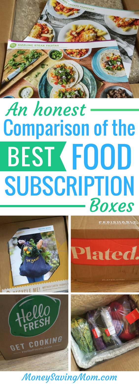 This comparison of the best food subscription boxes is SO helpful! It breaks down differences in quality, cost, variety, and more!!