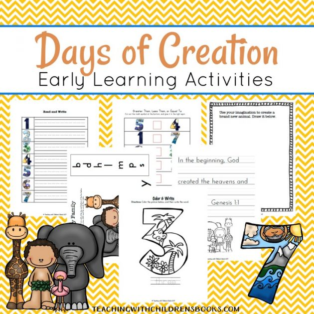 Free Days of Creation Printable Pack for Kids