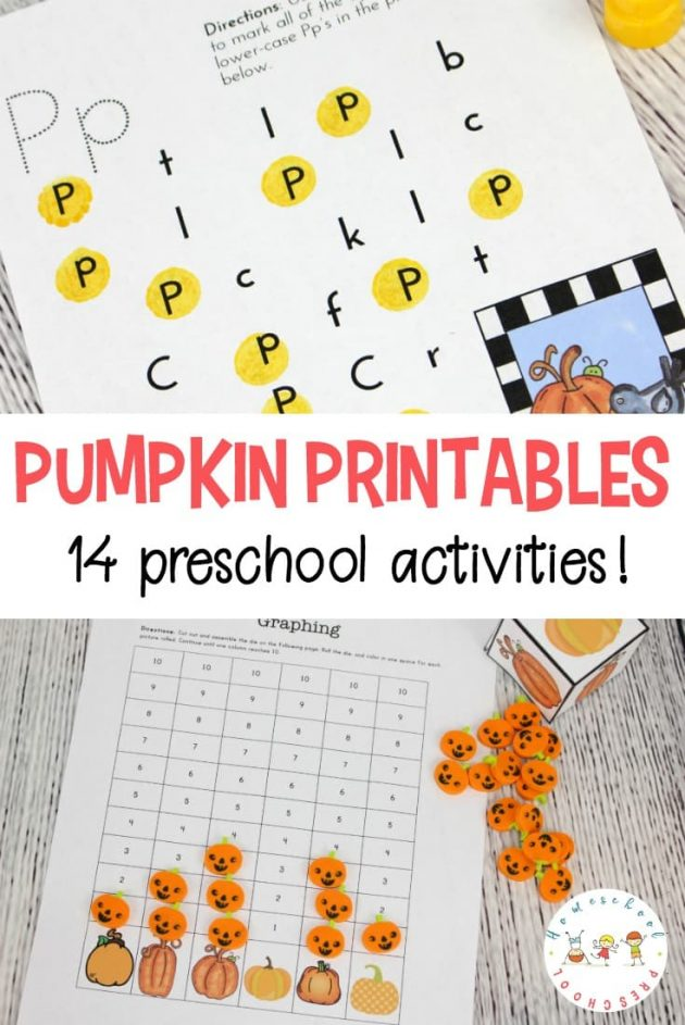 Free Printable Pumpkin Preschool Pack