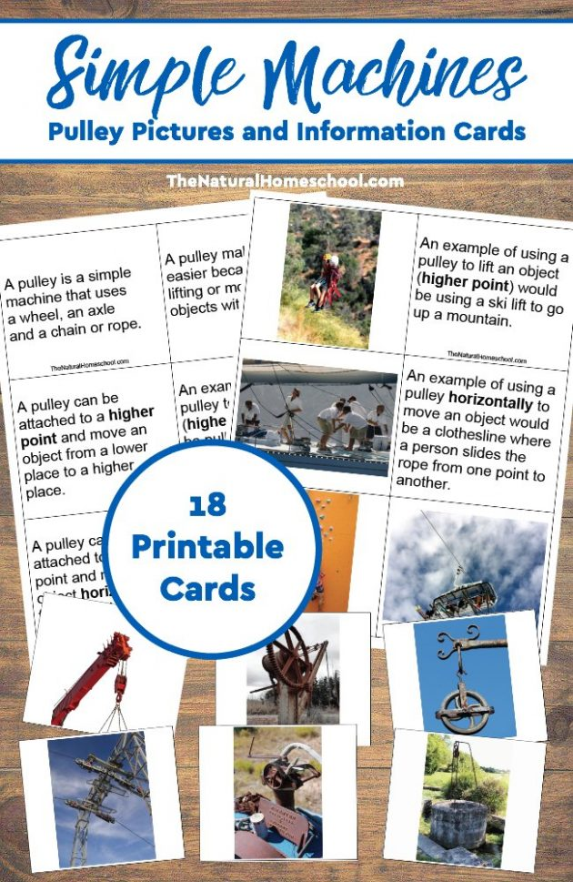 Free Printable Simple Machines Information Cards