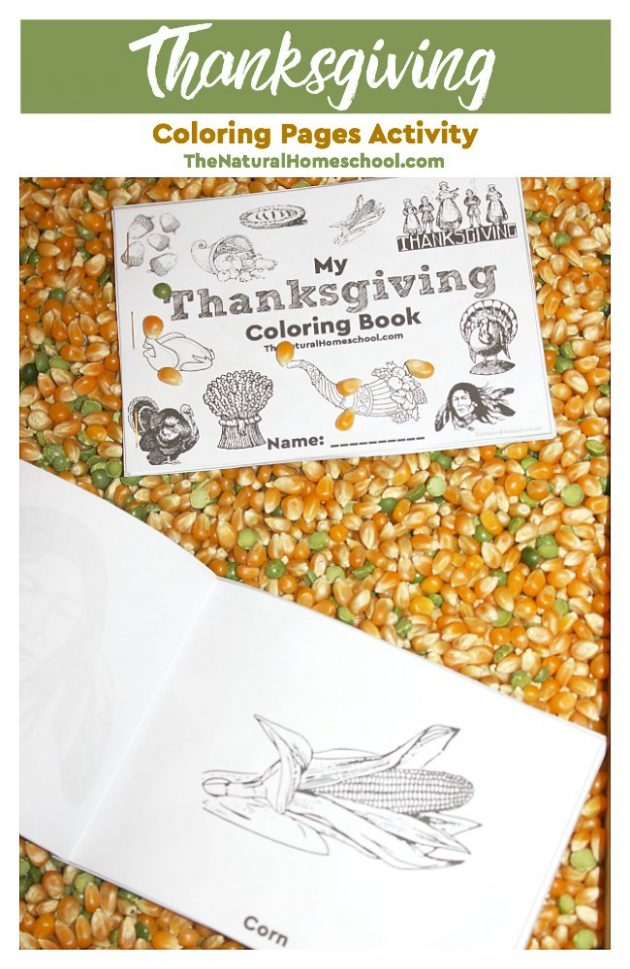 Free Printable Thanksgiving Coloring Book for Kids