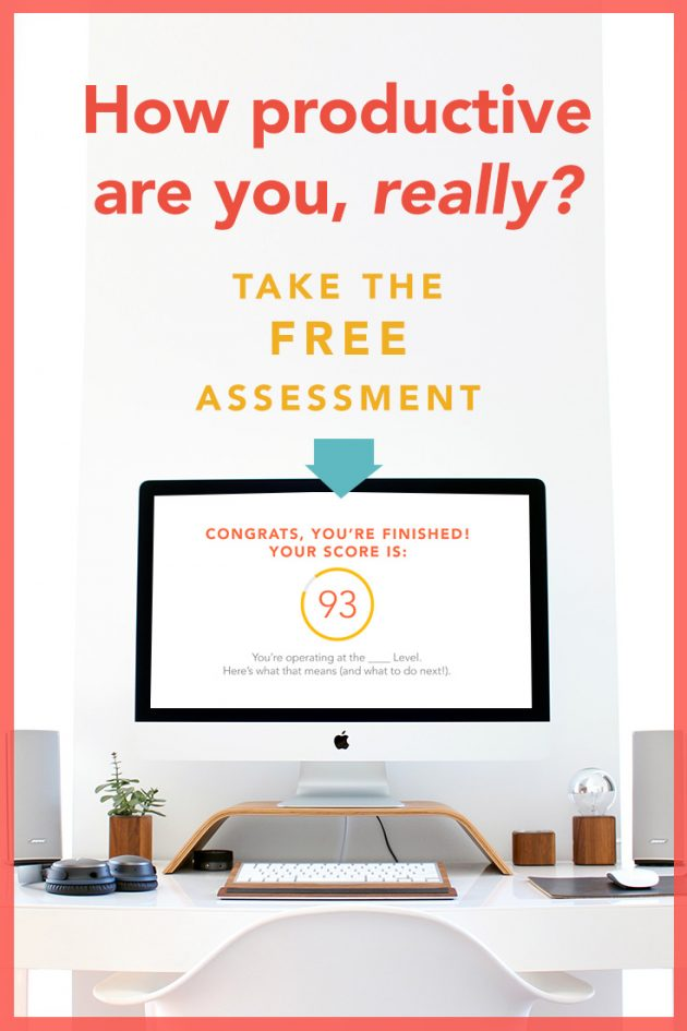 Free Personal Productivity Assessment!