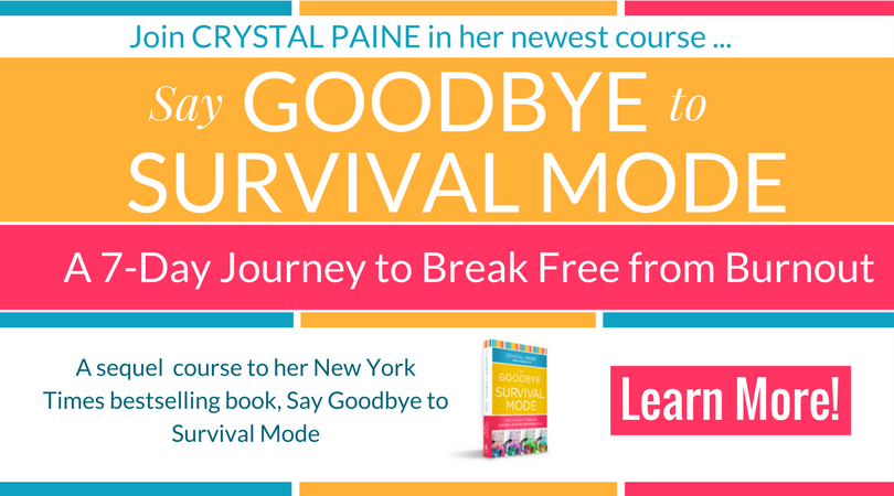 (Affiliate) Say Goodbye to Survival Mode: a 7-day journey to break free from burnout! New ecourse by Crystal Paine of Money Saving Mom #burnout