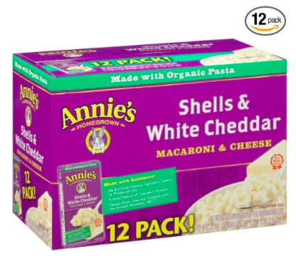 Amazon.com: Annie's Shells & White Cheddar Mac and Cheese (12 pack) just $8.29 shipped {Prime Members}