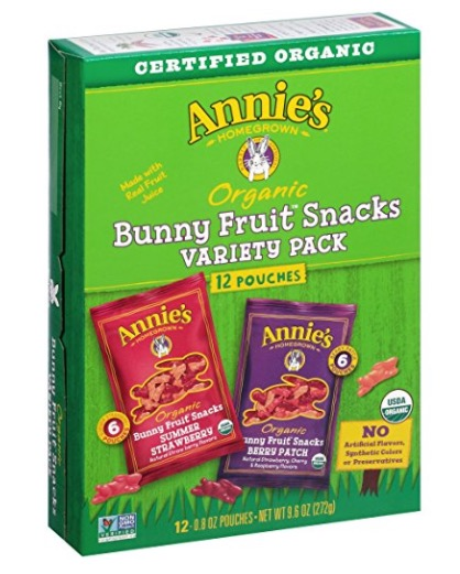 Amazon.com: Annie's Organic Bunny Fruit Snacks, 12-Count for just $5.11 shipped!