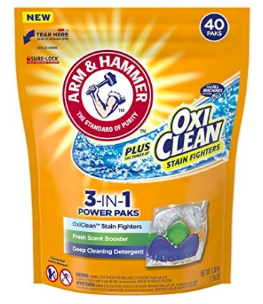 Amazon.com: Arm & Hammer Plus Oxiclean 3-in-1 Power Paks (40 count) only $4.51 shipped!