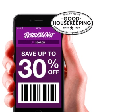 Download the Retail Me Not app to get the best retail discounts and deals!