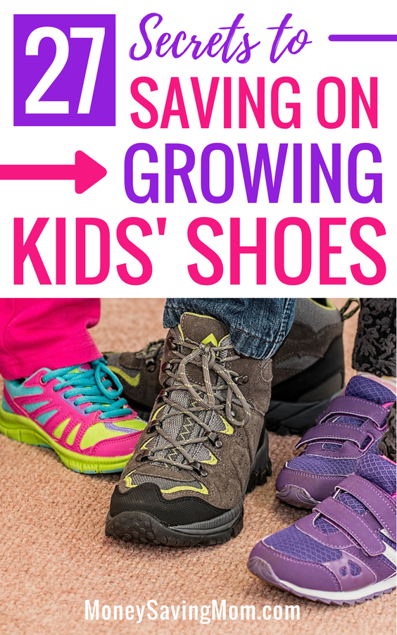 Save money on kids' shoes with these GREAT tips! This list is SO helpful and full of all kinds of ideas I hadn't thought of before!