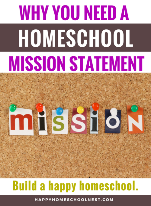 Free Printable Homeschool Mission Statement Worksheets