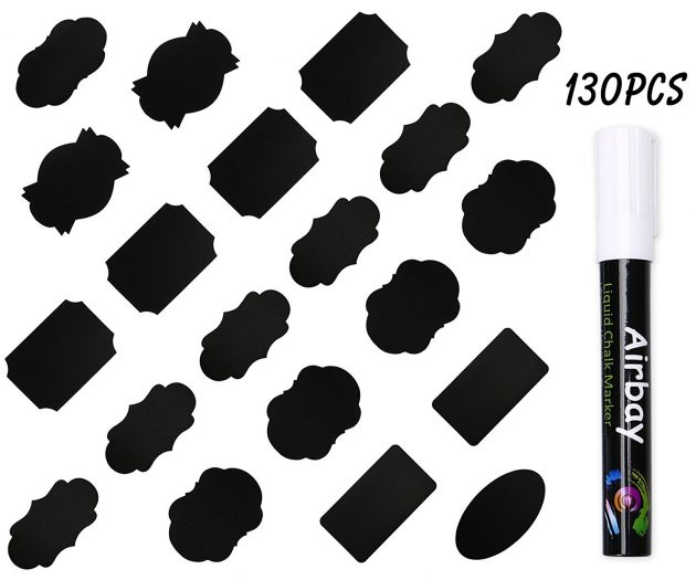 Amazon.com: 130 Airbay Chalkboard Labels and Chalk Marker just $8.87!