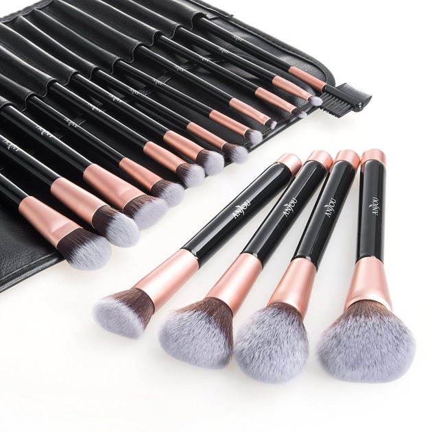 Amazon.com: Anjou 16-Piece Premium Cosmetic Brush Set just $14.99!