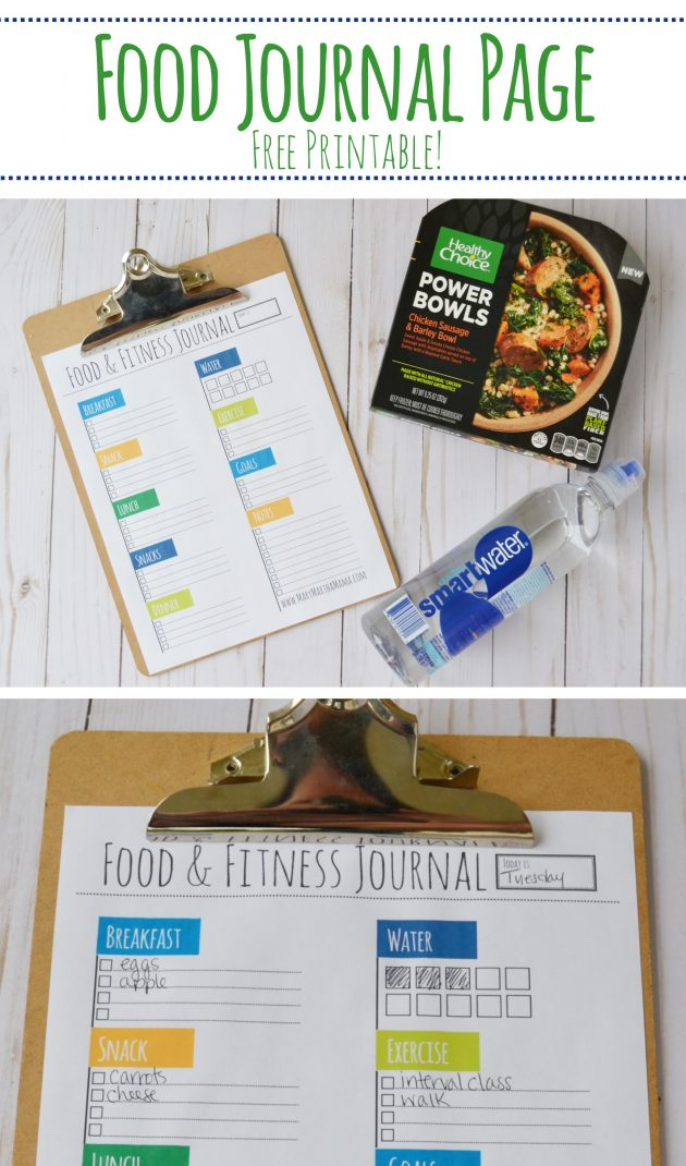 Free Printable Food & Fitness Journal