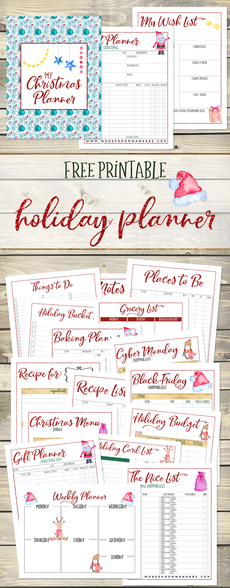 photo regarding Free Christmas Planner Printables identify Totally free Printable Final Xmas Planner - Monetary Conserving Mother