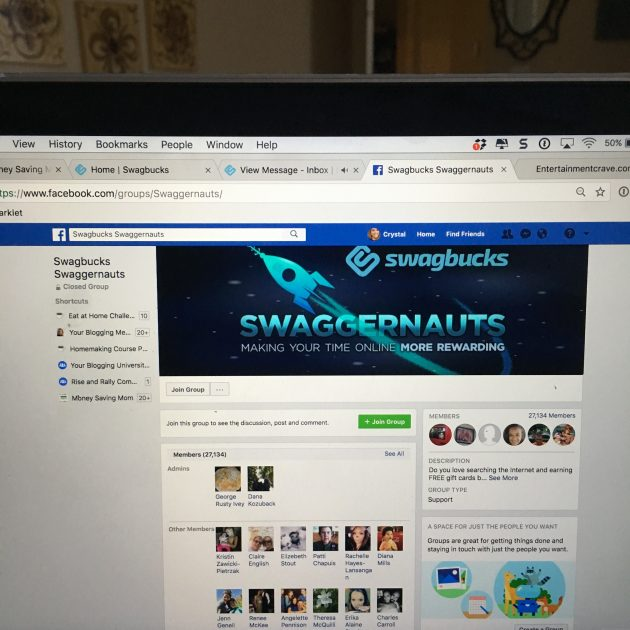 Swagbucks Swaggernauts Facebook group