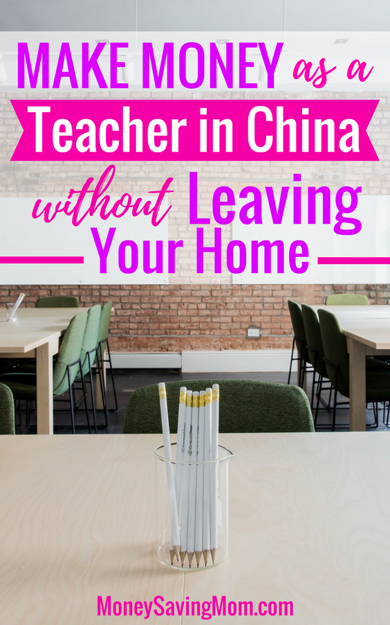 Make money from home as a teacher in China! This is such a unique way to earn an income from home, and you can get started in less than a month!!