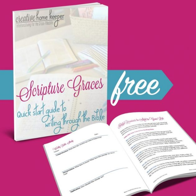 Free Scripture Graces Quick Start Guide to Writing Through the Bible