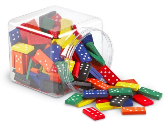 Amazon.com: Learning Resources Doublesix Dominoes In Bucket just $15.63!