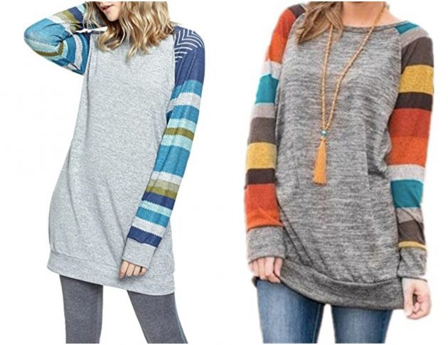 Get a Women's Long Sleeve Patchwork Casual Shirt as low as $15.99!