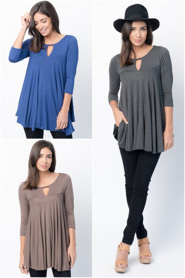 Keyhole Swing Tunic just $9.99!