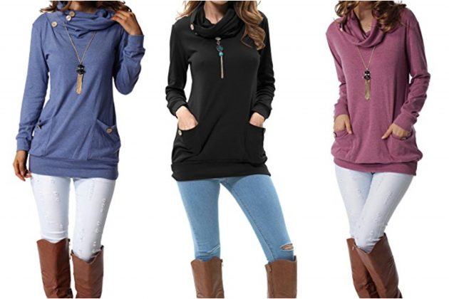 Get a Women's Long Sleeve Tunic Top with Pockets for just $19.99!