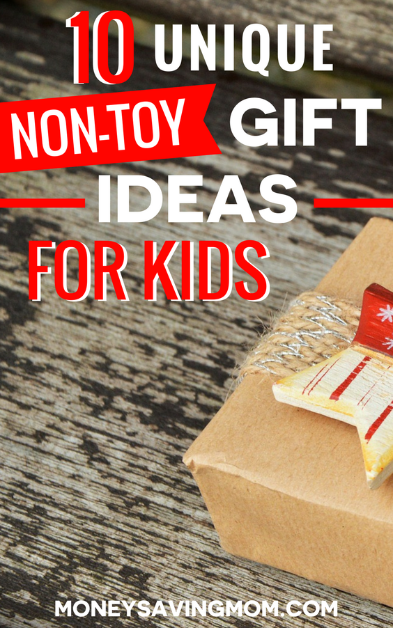 Non-toy gifts are a great way to avoid clutter in your home, keep things simple, AND still give gifts that kids will love!