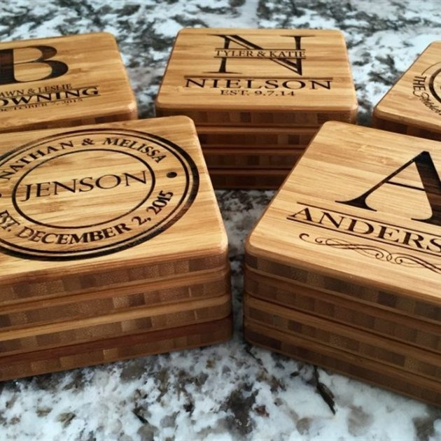 Get Personalized Bamboo Coasters (Set of 2) for just $8.99!