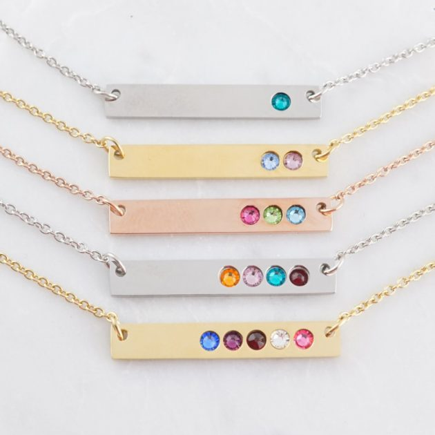 Get a Stainless Birthstone Bar Necklace for just $11.99!