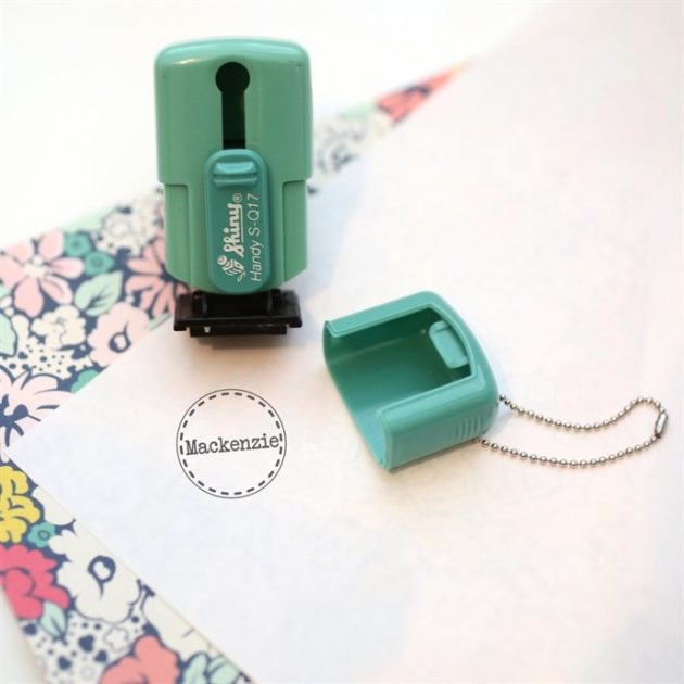 Get a Personalized Mini Stamp Keychain for only $6.99!
