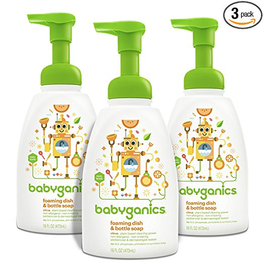 Amazon.com: Babyganics Foaming Dish and Bottle Soap, Pack of 3 just $8.98 shipped!