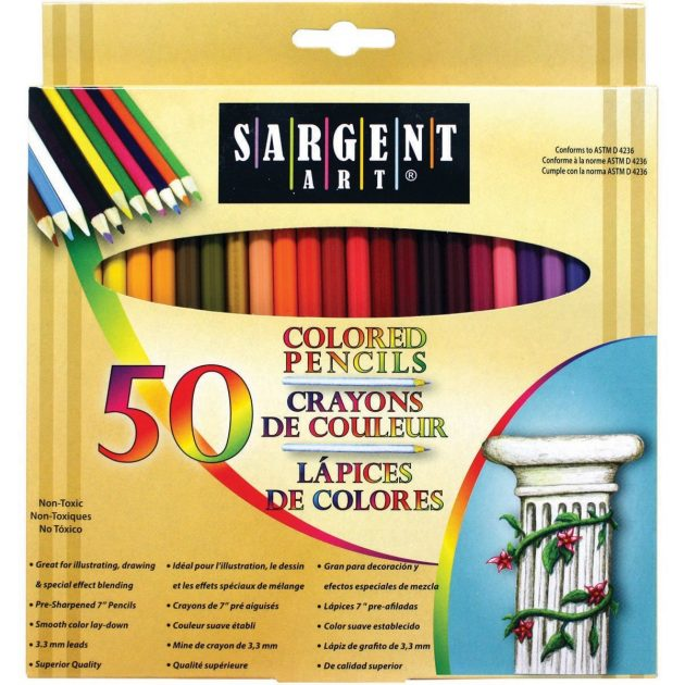 Amazon.com: Sargent Art Premium Coloring Pencils, Pack of 50 just $3.98!