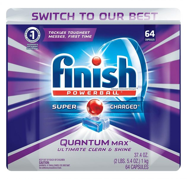 Amazon.com: Finish Quantum Max Powerball Dishwasher Tabs, 64 count only $7.56 shipped!