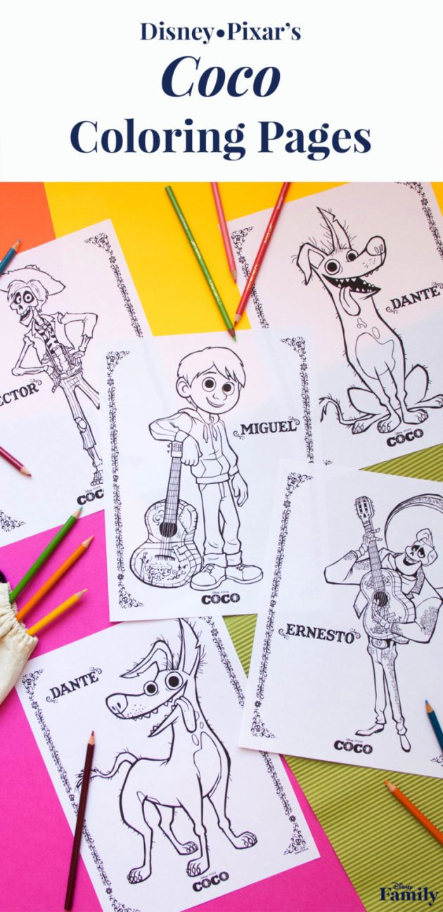Free Coco Printable Coloring Pages - Money Saving Mom® : Money ...