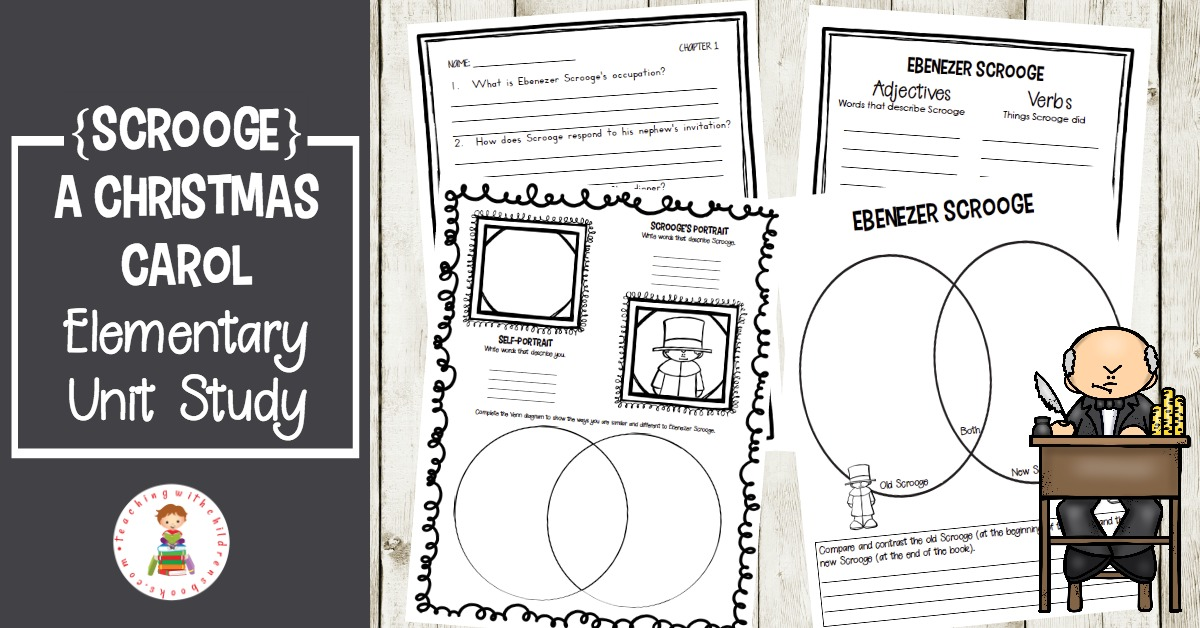 Christmas Carol Printable: Free Printable Christmas Carol Elementary Unit Study
