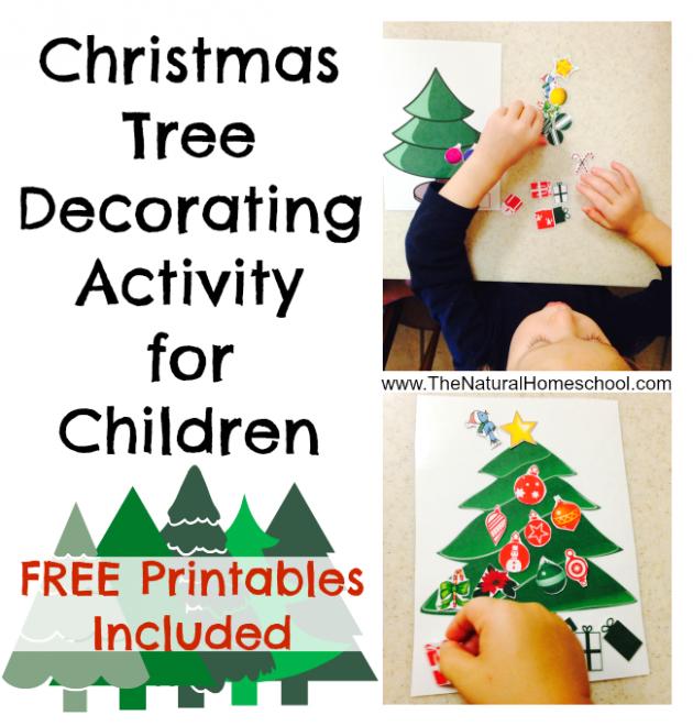 free printable christmas tree decorating activity for kids money - Kids Decorating For Christmas