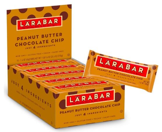 Amazon.com: Larabar Gluten Peanut Butter Chocolate Chip Bars (16 count) just $10.99 shipped!