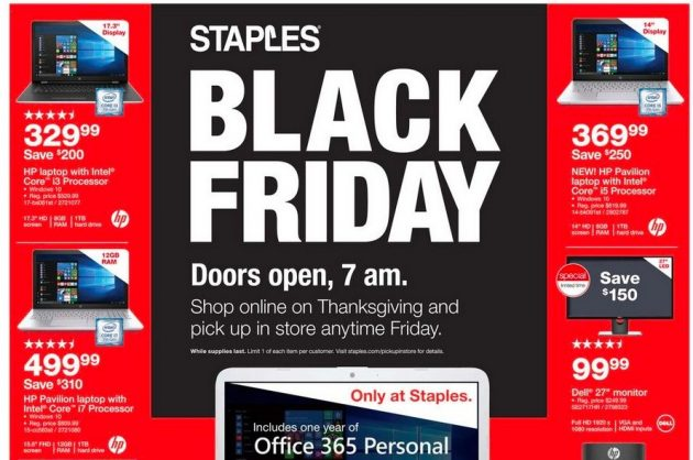Staples Black Friday Ad 2017